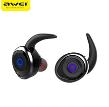 2017 Awei T1 bluetooth earphone true wireless Stereo headset support TWS, smart noise reduction, waterproof, IOS power display(China)