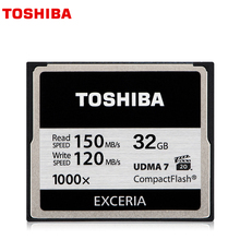 Original TOSHIBA Genuine 128GB 32GB Hi-Speed CF Memory Card 1000X High speed Compact Flash CF Card Applicable Digital Camera(China)