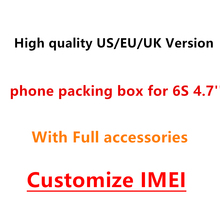 20pcs/ High Quality US/EU/UK Version Phone Packaging Packing Box Case For iPhone 6s 4.7'' With Full Accessories Package Box(China)