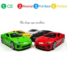 Pull Back Musical Toys for 1:32 Lexus Diecast Car Models Sounds Car Toys Vehicles Hobbies Mini Educational New(China)