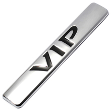 Car Motorcycle Metal VIP Emblem Badge Decal Sticker for Teana Peugeot Bmw Ford Focus KIA MAZDA TOYOTA HONDA Car Side Decoration(China)