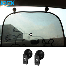 LOEN Universal 2PC Black Sucker Clips Hook Holders For auto window Curtain Sun Shade Cloth Cards Ticket Paper leaflets Clip 2017