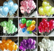 New 50pcs/lot 10inch 1.2g/pcs Latex Balloon Helium Thickening Pearl Celebration Party Wedding Birthday Balloon