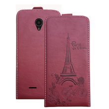 Embossed Pairs towel up and down pu leather flip case Flip Cover Open Phone Bags for Micromax Canvas Pace 4G Q415