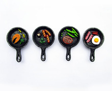 Creative Food Shape Cute Salmon Fried Eggs Hot Dog Bacon Steak Pan Novelty Fridge Magnets Souvenir Sticker Home Decor