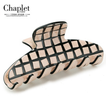 Chaplet 2016 New High Quality Classic Women Hair Accessories Grid pattern Hair Claw Multicolor Ladies Clip Claw Free Shipping