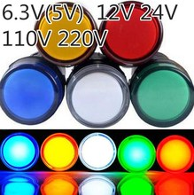10pcs 22mm Signal Light  led Indicator light
