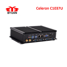 Cheap mini pc 1037u 4 serial ports mini pc server FANLESS desktop mini computer dual lan mini pc support XP windows 7 8.1/linux