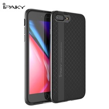 IPAKY For Apple iPhone 8 Plus Case PC Rim + TPU Back Hybrid Case for iPhone 8 Plus / 7 Plus - 5.5 inch(China)