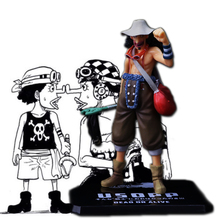 Action Figure Anime One Piece Usopp 15cm PVC Sogeking Decoration Fighting World Toy Model For Children Gift F3(China)