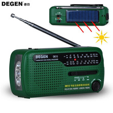 Hotsale Degen Brand FM Radio DE13 FM MW SW Crank Dynamo Solar Emergency Radio World Receiver Quality VS Tecsun PL-310 Panda 6200(China)
