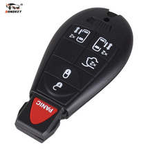 DANDKEY 6 Button Remote Smart Key Shell Blank Blade For Chrysler Jeep Dodge Grand Caravan Durango Charger Journey Key Case New