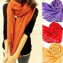New Scarf Wrap Wool Blends Soft Multicolor Warm Scarves Long Large Shawl Tassels
