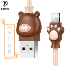 Baseus Cute Lovely USB Cable For iPhone X 8 7 5 6 6s USB Charger Charging Cable For iPod iPad USB Charger Cable Phone Data Cable(China)