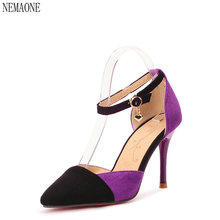 NEMAONE 2017 bottom High Heels Women Pumps fashion High Heel Shoes Woman Sexy Wedding Party Shoes black red Blue