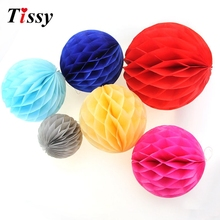 "Buy 10PCS 4"", 10cm Hight Tissue Paper Honeycomb Ball Pastel Bags DIY decorations Supplies Wedding Party 15 Colors for $3.02 in AliExpress store"