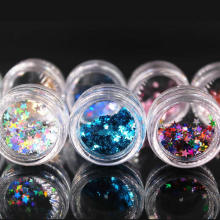 (1Pcs/Sell) Many Colors Stars Nail/Body/Eye Glitter Powder Paillettes DIY Nail Art Women Superfine Decorations Fashion
