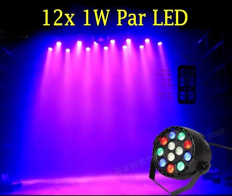 Remote control 12W 12 LED Colors par light DMX RGBW LED Stage Lamp PAR Lights Strobe Party Disco KTV LED Stage Light Pa-12(YK)<br><br>Aliexpress
