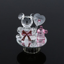 K5 Crystal Bear Nipple Baptism Baby Shower Souvenirs Party Christening Giveaway Gift Wedding Favors and Gifts For Guest ZA3173(China)