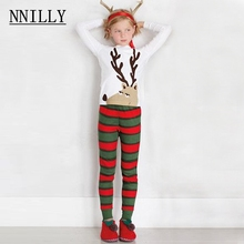 Children's spring autumn Christmas fawn stripes home wear two sets of children's clothing(China)
