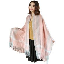 2016 New Women Mohair Scarf Long Size Warm Fashion Scarves For Lady Casual Colorful Plaid Scarves Shawls Wraps