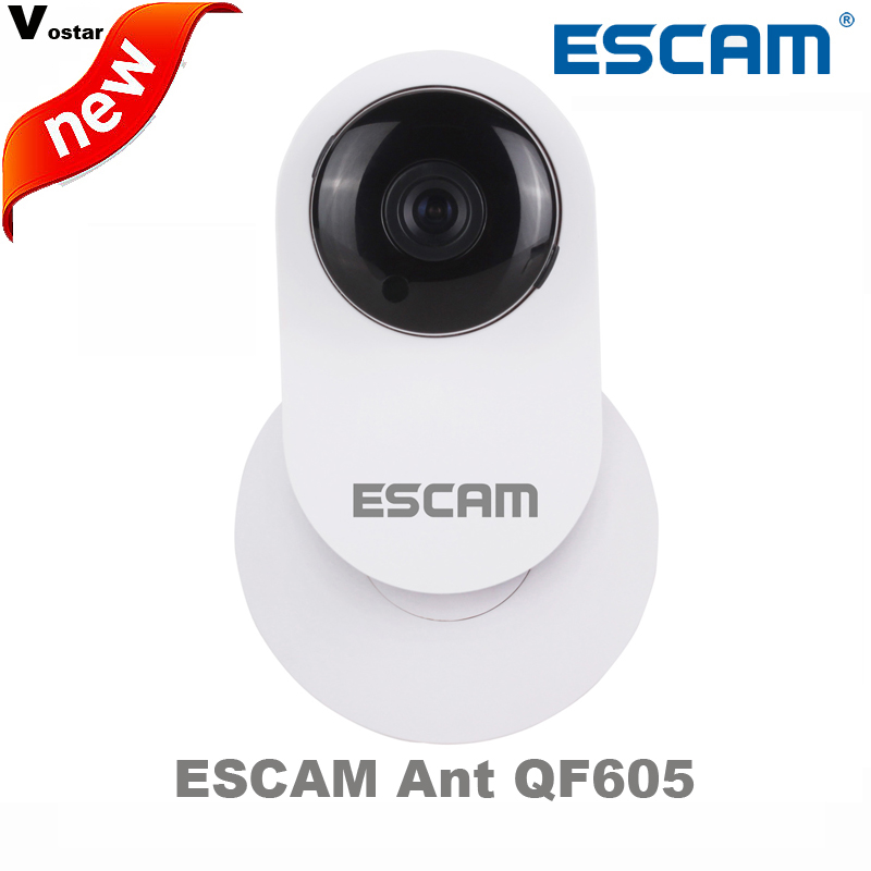 ESCAM Ant QF605 3.6mm Lens mini wireless ip camera support WIFI/ONVIF two way audio with motion detection Support E-mail alarm<br>