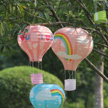 10Pcs 14inch 35cm multicolor Paper Chinese wishing lantern hot air balloon Fire Sky lantern for New Year decoration supplies