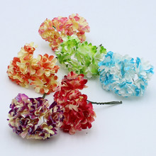 2015 Limited Crafts Decor Free Shipping 144pcs/lot Paper Flower Bouquet/wire Stem/ Scrapbooking Artificial Chrysanthemum Flowers
