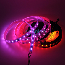 5M 48 LEDs/M individually Pixels LPD8806 IC LED Strip Light SMD 5050 RGB Dream color Addressable Dream Color IP67 Waterproof 5V