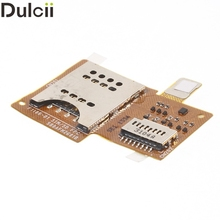 Dulcii Mobile Phone Parts for Sony Xperia miro ST23i OEM for Sony Xperia Miro ST23i SIM Card Reader Flex Cable Replacement