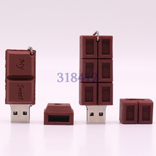 Cartoon Love Sweet Chocolate USB 2.0 Flash Drive 4GB 8GB 16GB 32GB 64GB USB 2.0 Flash Memory Stick Flash Drive Pendrive
