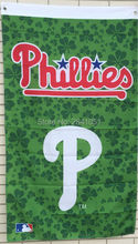 Philadelphia Phillies Green American Outdoor Indoor Baseball College Flag 3X5 Custom USA Any Team Flag(China)