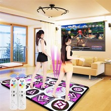165cmx 95cmx 11mm TV/PC Wireless Double Dance Pad English Menu Sensing Game Dancing Pad Mat For Musical Instruments Lover