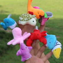 Marine Animal Finger Even Utensils Early Childhood Educational Early Childhood Toys, Children's Hand Puppet Gift Hand Puppet(China)
