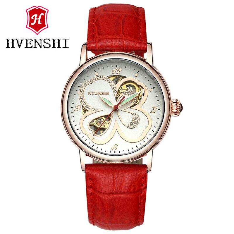 Classic women Watch Top Brand Luxury Leather Strap Mechanical Watch Women Bracelet Fashion Skeleton Clocks Elegant Ladies Watch<br>