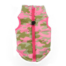 Fashion Pet Camouflage Dog Clothes Pink Polyester puppy Winter Cloth Jacket vest outfit wears drop shipping sale
