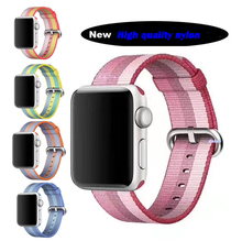 Newest color 42mm 38mm strap For Apple Watch band nylon woven series 1 2 women men