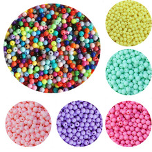 3/4/6/8/10mm 200/200/100/100/50pcs/lot Cheap Hot Acrylic Beads Fits for Handmade DIY Necklace Bracelet Jewelry Making Wholesale(China)