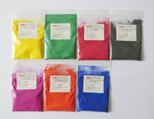 heat stimulate powder,1lot=yellow,blue,red,black,grass green,orange,rose red,all 31 centigrade,10g/color,free shipping
