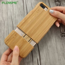 FLOVEME Wood Phone Case For iPhone 7 Plus Cases Cover Fundas Retro Bamboo Wood Carving Case For iPhone7 Phone Back Shell