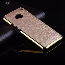 For HTC M7 Case Luxury Gold Plated Frame Football Skin Hybrid Hard PC Back Cover Case For HTC One M7 Protective Phone Case Coque