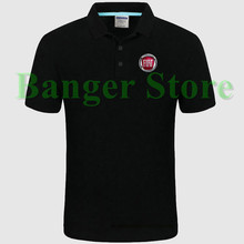 FIAT car logo Polo shirt 4S shop short sleeved polo shirt overalls women and mens