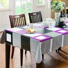 New arrival Europe style table cloth PVC rectangular table cloths floral print dustproof popular sale