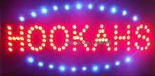 2017 Led neon hookahs hot sale sign custom neon signs eye-catching slogans board indoor size 19''x10''(China)