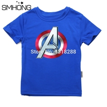 SMHONG Summer Kids T Shirt Cartoon Captain America short Sleeve Baby Boys Girls T-Shirt Children Pullovers Tee Boys Clothes