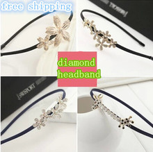 Top sell hair jewelry fake diamond bow Korean small jewelry pearl hairpin hair hoop headband women hairband many style new 2014