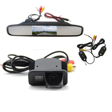 Wireless Color CCD Chip Car Rear View Camera for TOYOTA Corolla Tarago Previa Wish Alphard + 4.3 Inch rearview Mirror Monitor(China)