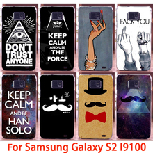 Soft Phone Cases For Samsung Galaxy SII I9100 S2 GT-I9100 Cases Beard Lips Hard Back Cover Skins Shell Housings Sheath Bag Hood