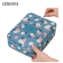 New Man Women Portable Toiletry Neceser Zipper Makeup Bag Waterproof Cosmetic Bag Beauty Organizer Storage Travel Wash Pouch Bag(China)