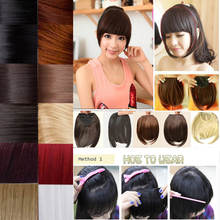 Fashion Hair Bangs Fringe Neat With Synthetic Hair Accessories Bang Hair Extension 100% Natural USA